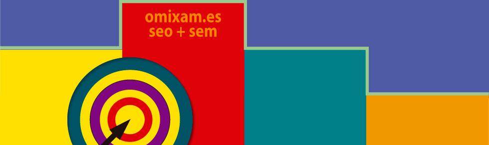 grafico de presentación de omixam.es con un dibujo de un podium y una diana para representar el exito del seo y del sem
