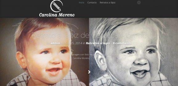 Posicionando en internet a Carolina Moreno, artista y retratista